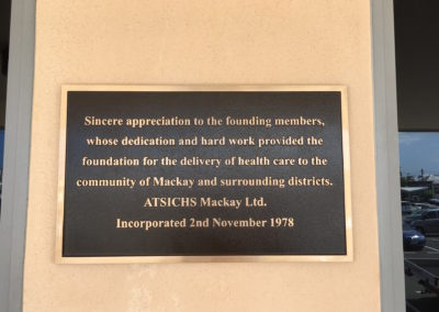 ATSICHS engraving plaque