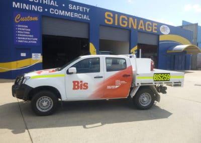 BIS vehicle signs