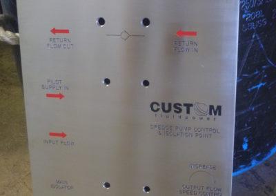 Custom Fluid engraving