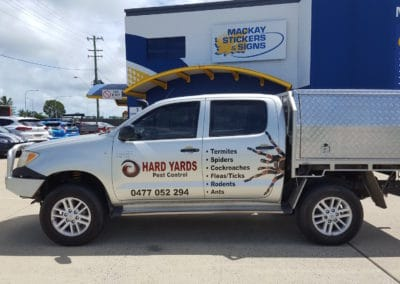 Hard Yards Pest Control vehicle signs