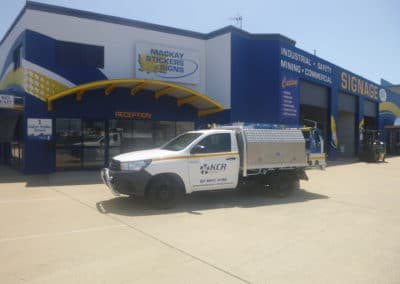 Kempster Commercial Refrigeration vehicle signage