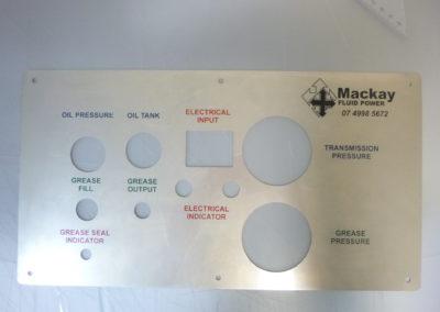 Mackay Fluid Power engraving